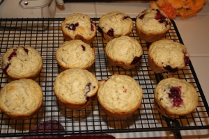 Olallieberry (Blackberry) Muffins
