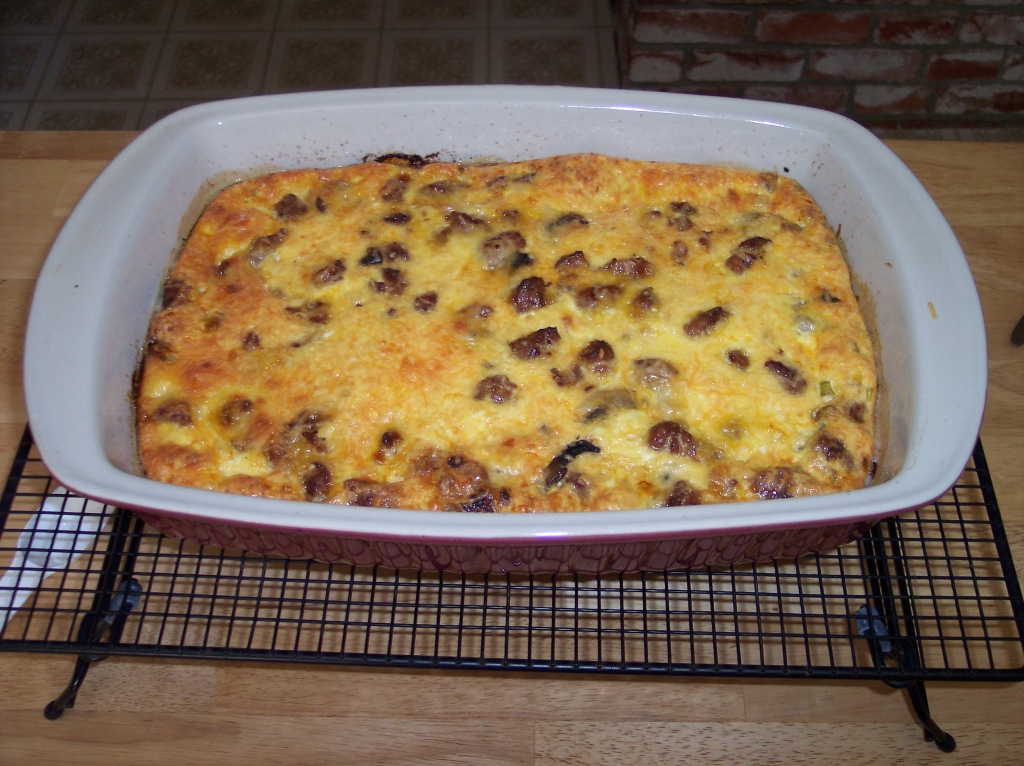 Sausage egg breakfast casserole