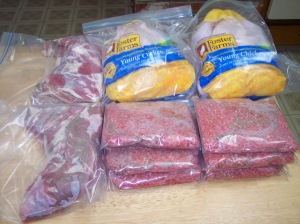 meat packaged