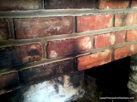 clean soot from fireplace bricks