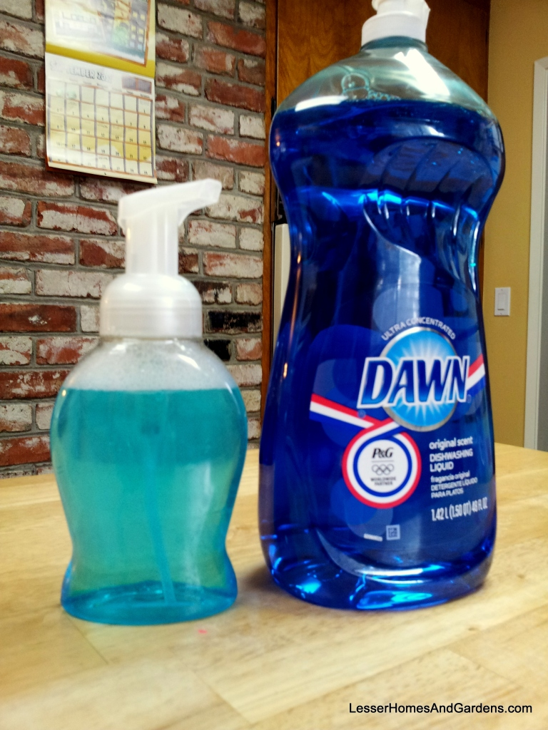 foaming dish soap