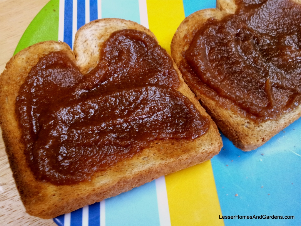 apple butter jam on toast