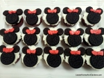 minnie mouse birthday party cupcakes