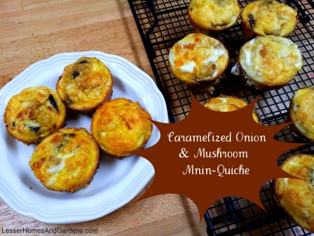 Caramelized Onion & Mushroom Mini Quiches