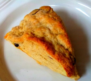 cran-orange scone with flax
