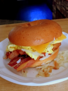 loaded breakfast sandwich